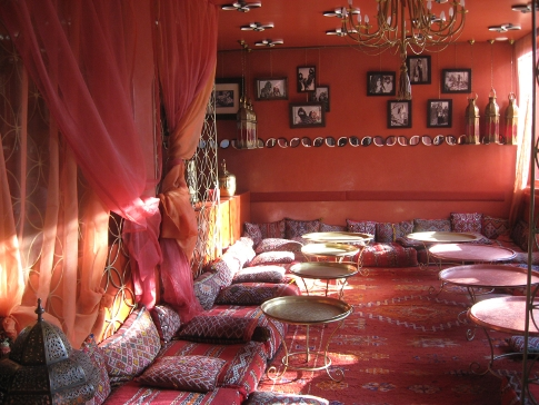 Lounge bar at Cafe Arabe, Marrakech